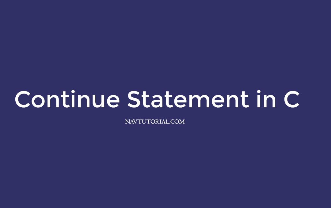 continue statement in c