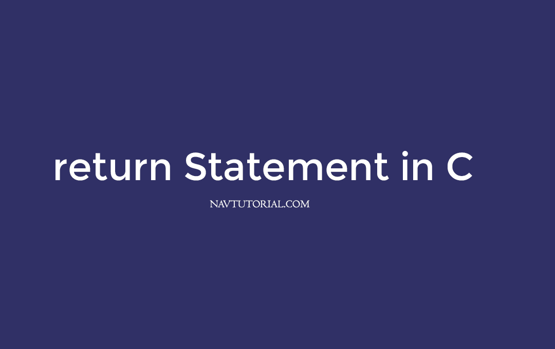 Return statements in C
